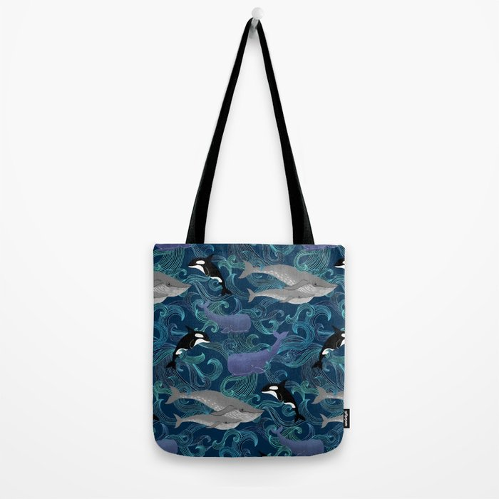 Beautiful Ocean Giants - teal Tote Bag
