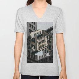 New York City in Focus/Out of Focus Unisex V-Neck