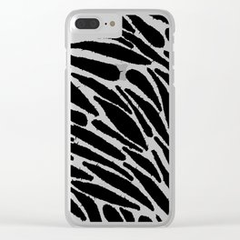 Blackwork Clear iPhone Case