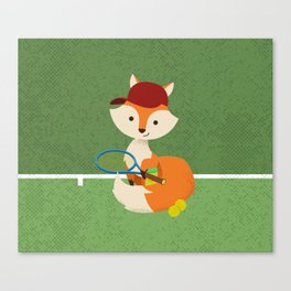Tennis fox Canvas Print