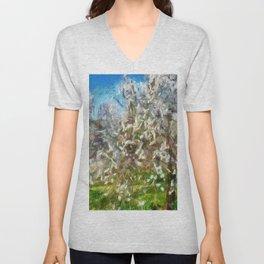 Almond Orchard Blossom Unisex V-Neck