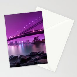 city nigth Stationery Cards