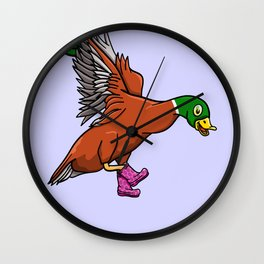 Duck Boots Wall Clock