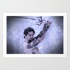 Bam Bam the Snow Warrior Art Print