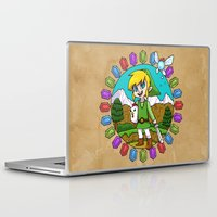 hyrule Laptop & iPad Skins featuring Hyrule Adventurer by Crimson Pumpkin