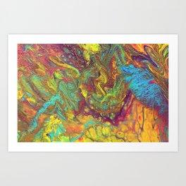 Acrylic Pouring #5 Art Print