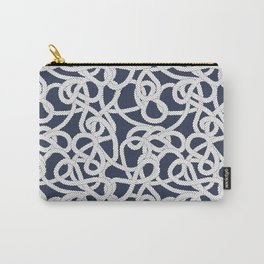 Nautical Rope Knots in Navy Carry-All Pouch