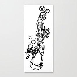 vertical mermaid Canvas Print