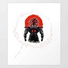 Broly Legendary Saiyan New Dragon Ball Super Art Print
