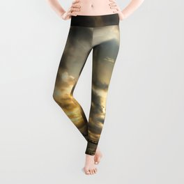 Golden Summer Evening Leggings