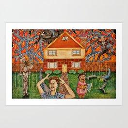 The Help vs Smart Home Art Print