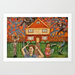 The Help vs Smart Home Art Print