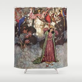 Beauty by Edmund Dulac Shower Curtain
