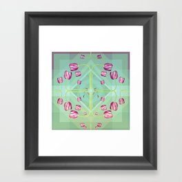 Tulips in green shades Framed Art Print
