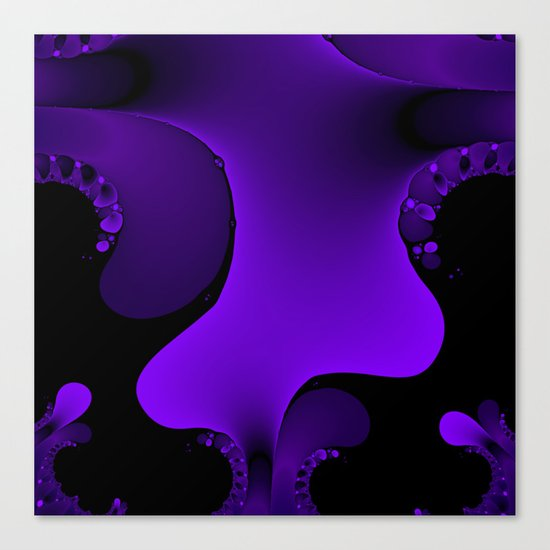 Purple Rain Fractal Canvas Print