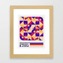shape jam nº001 Framed Art Print