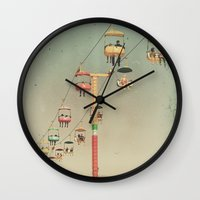 1975 Wall Clocks featuring 1975 Ride by Maite Pons