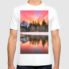 Wander & Rocky Mountains MEDIUM Mens Fitted Tee White
