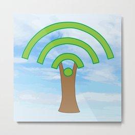 Tree of WiFi Metal Print