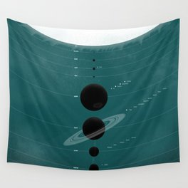 The Worlds (Aqua) Wall Tapestry