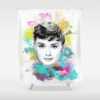 audrey Shower Curtains featuring Audrey by Featured Interiors