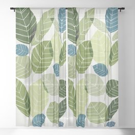 Forest Elements Sheer Curtain