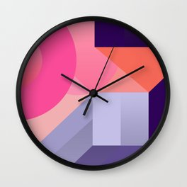 ultraviolet pink abstract geometry Wall Clock
