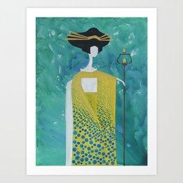 Mizu Geisha Art Print