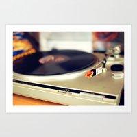Vinyl Lover Art Print