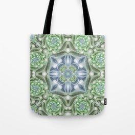 Shades of Green Mandala Tote Bag