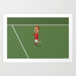 Beckham's celebration  Art Print