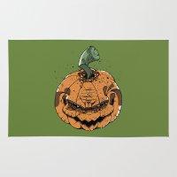 pumpkin Area & Throw Rugs featuring Pumpkin by Kape
