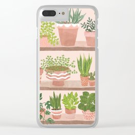 Plant Shelves Clear iPhone Case