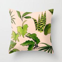 Fronds & Friends Throw Pillow