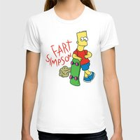 simpson T-shirts featuring FART SIMPSON by Josh LaFayette