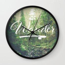 Mountain of solitude - text version Wall Clock