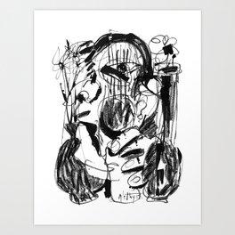 Vases - b&w Art Print
