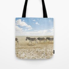 Zebra on African Savannah Tote Bag