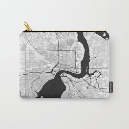 Jacksonville Map Gray Carry-All Pouch