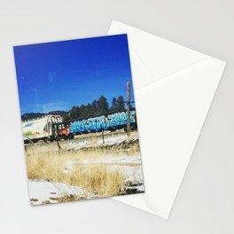 Blue Graffiti Stationery Cards