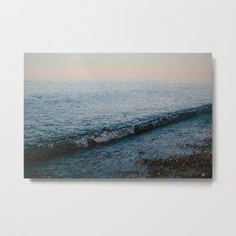 Dusk Waves // Upper Peninsula, Michigan Metal Print