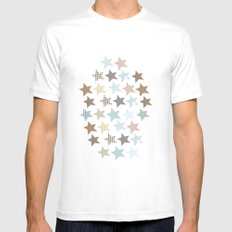 stars Mens Fitted Tee White MEDIUM