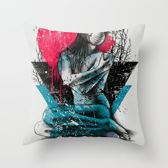 Suffocated Throw Pillow