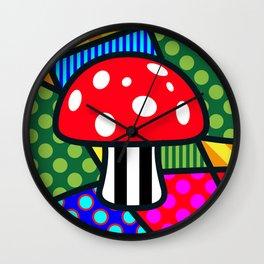 Lucky Fliegenpilz SQuare Wall Clock