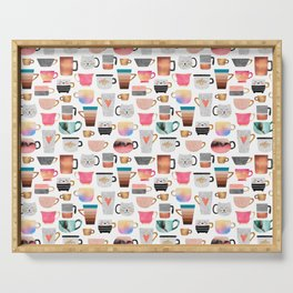 Coffee Cup Collection Serving Tray
