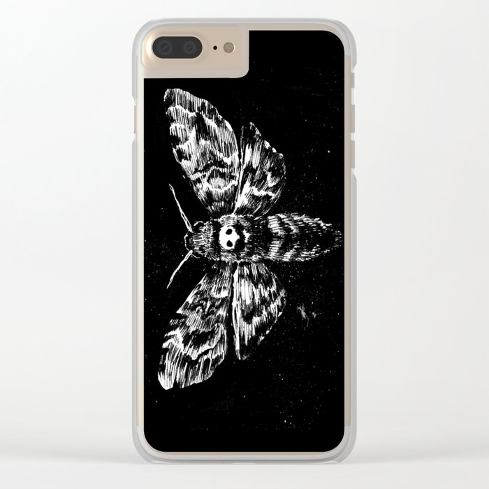 Deaths Head Clear iPhone Case