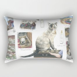 How to Live with a Cat Rectangular Pillow