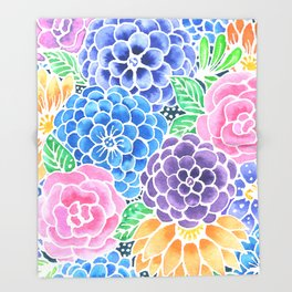 Masked Flora Collection Bloom Throw Blanket