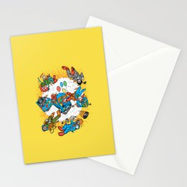 When Clown Cars Explode Stationery Cards
