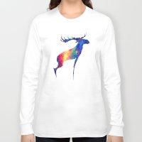 moose Long Sleeve T-shirts featuring Moose by Verismaya